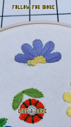 Embroidery For Beginners Pattern - Embroidery Flowers Simple How To - Embroidery Easy Ideas Simple - Unicorn Embroidery Easy #embroidery #diy #craft #embroideryforbeginners #easyembroidery Diy Easy Embroidery, Diy Embroidery Patterns, Simple Embroidery Designs, Hand Embroidery Videos, Tambour Embroidery, Creative Embroidery, Hand Embroidery Patterns, Embroidery On Jeans, Diy Embroidery For Beginners