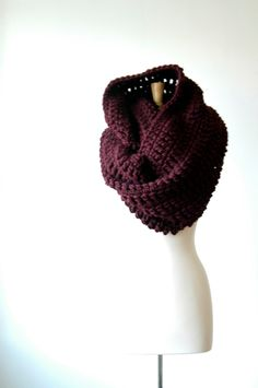 The Beau Scarf in merlot, oversized, huge infinity scarf. $118.00, via Etsy.