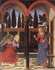 BALDOVINETTI, Alessio Annunciation 1447 Tempera on wood, 167 x 137 cm Galleria degli Uffizi, Florence