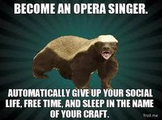 Opera singers are devoted!