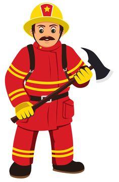 "Photo from album ""Пожарный, спасатель"" on Yandex. Kids Cartoon Characters, Cartoon Pics, Clipart, Fireman Quilt, Firefighter Bedroom, Fireman Party, License Plate Art, Fire Prevention, Community Helpers"