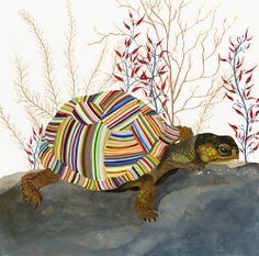 """The Tortoise"" by Carrie Marill  Hummm... this might be the start of a great zentangle project"