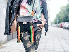 Lederjacke Freaky Nation Boyfriend jeans Girlfriend jeans Chloe Tasche Twinset Fashion