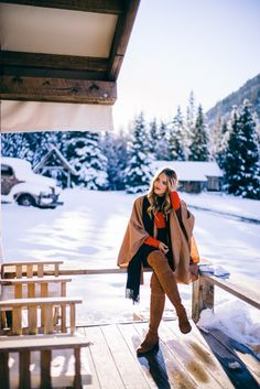 Gal Meets Glam Winter Alpaca Cape