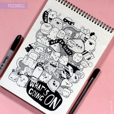 Ideas for drawing kawaii doodles ideas Cute Doodle Art, Doodle Art Drawing, Doodle Sketch, Cute Art, Kawaii Doodles, Cute Doodles, Kawaii Art, Doodle Monster, Monster 2
