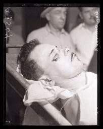 8 x 10 print of John Dillinger after he was killed leaving the Biograph theater 2433 North Lincoln Avenue, Lincoln Park in Chicago, Illinois.