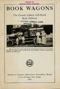 Book Wagons, pamphlet by the ALA, 1921.