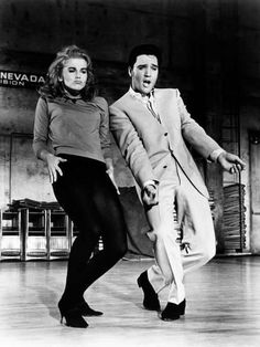 When Ann Margret let her hair down in this dance scene in Viva Las Vegas. (with Elvis in Viva Las Vegas, Ann Margret, Elvis Presley, Shall We Dance, Lets Dance, Mick Jagger, Freddie Mercury, Classic Hollywood, Old Hollywood, Faye Dunaway