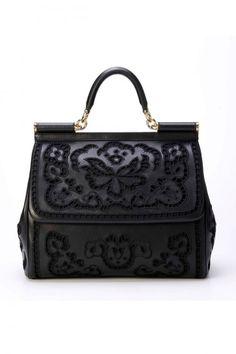 Handbag total black Dolce & Gabbana