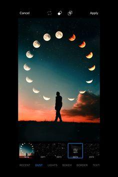 Moon in hand editing Film Photography Tips, Creative Portrait Photography, Photoshop Photography, Creative Instagram Photo Ideas, Instagram Photo Editing, Picsart Tutorial, Graphic, Watch, Picsart Edits