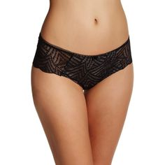Chantelle Illusion Boxer Short ($19) ❤ liked on Polyvore featuring intimates, panties, black, chantelle and short boxer