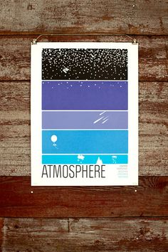 Screen-print poster that makes my science geek happy.   http://www.wearebrainstorm.com