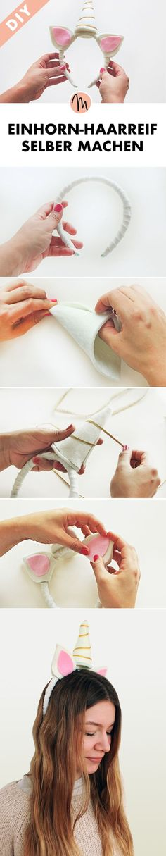 Einhorn-Haarreifen selber machen - DIY-Anleitung via Makerist.de