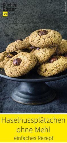 Tolles Rezept für Haselnussplätzchen ohne Mehl. Sweet Bakery, Cupcakes, Biscuits, Muffin, Low Carb, Cookies, Chocolate, Breakfast, Desserts