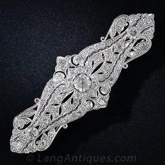 Edwardian Platinum and Diamond Brooch - 50-3-4581 - Lang Antiques