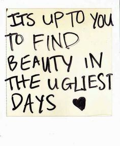 Perspective - we can choose to see beauty and goodness around us and that in turn will be your reality <3