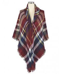c70823cec03b9 Women s Fashion Long Shawl Tassels Soft Plaid Winter Blanket Scarf Blue 5  CU187QEXD7U. Scarves   Wraps ...