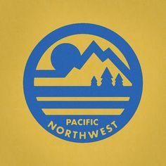 Pacific Northwest Icon Design - Love this retro PNW logo Logo Design Badge Design, Icon Design, Badges, Camp Logo, Start Ups, Great Logos, Old Navy, Identity Design, Brand Identity