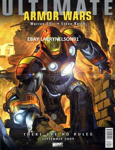 ULTIMATE ARMOR WARS POSTER IRON MAN THE TORCH TORO MARVEL ALEX ROSS FANTASTIC 4