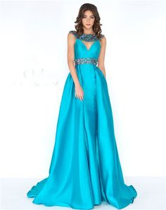 A Line High Neck Front Cut Out Open Back Turquoise Taffeta Beaded Prom Dress Turquoise Prom Dresses, Prom Dresses Blue, Formal Dresses, Beaded Prom Dress, Prom Dresses For Sale, Prom Ideas, Women's Fashion, Gowns, Wedding