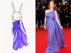 """Today I'm wearing an Elie Saab gown a la Jessica Chastain..."" -Fifi"