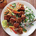 Caramel Pork Recipe | MyRecipes.com read reviews b/4 making.  Serve with Radish-squash Slaw.