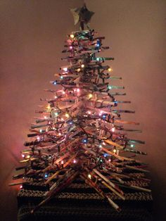 From the Craftster Community: Recycled rolled magazine Christmas tree tutorial.