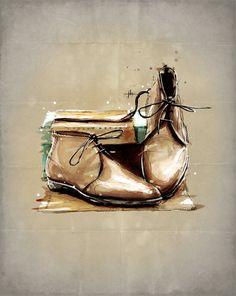 Edward Green Shoes, by Jeremy Kyle Artist (CMYKyles). www.CMYKyles.com