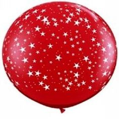Huge Ruby Red Stars Around Latex Balloons Giant Balloons, Helium Balloons, Latex Balloons, Online Party Supplies, Australia Day, Party Shop, Party Bags, Wedding Favours, Balloon Decorations