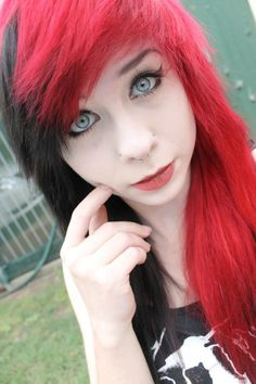 red black hair - Google Search
