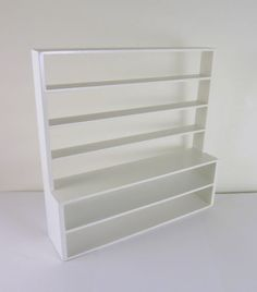 Dollhouse-Miniature-White-Triple-Wide-Shelves