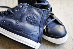 Leather Navy Blues