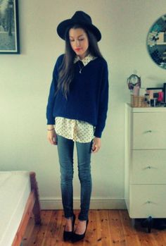 Outfit containing #jumper - #ebay, #shirt - #choies, #jeans - #primark posted by Georgia x