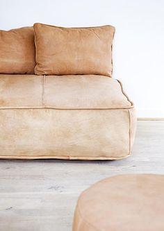 simple leather sofa