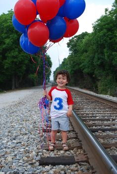 Thomas the Train Photo shoot idea.