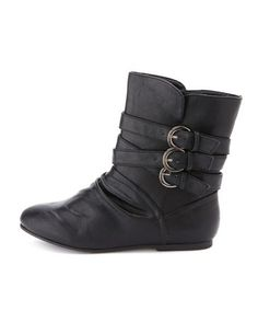 Triple Buckle Ankle Bootie: Charlotte Russe