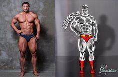 #colossus before & after.  #xmen #marvel #photomanipulation #art #myart #beforeandafter #mucles #marvelart #worldofnerdart #photoshop #bodybuilder #body #strong