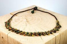 "Halskette ""Rainforest"" Fair Trade, Beaded Necklace, Jewelry, Fashion, Rhinestones, Beads, Neck Chain, Schmuck, Beaded Collar"