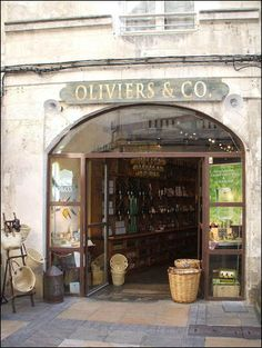 Olive oil shop in La Rochelle