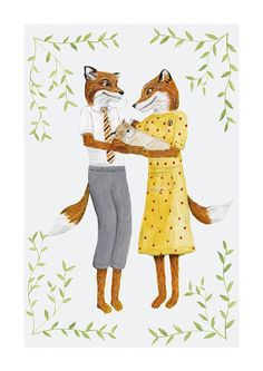 This sweet print is of an original acrylic painting (by me!) of Mr. and Mrs. Fox with baby Ash, inspired by the Wes Anderson film Fantastic Mr.Fox based on the Roald Dahl novel. This artwork would be the perfect piece for any nursery or as a baby shower gift! The print is available with