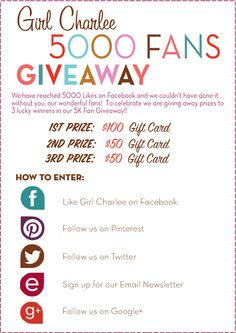 Love sewing with knit fabrics? Here's your chance to win gift cards from Girl Charlee Fabrics, your online resource to unique, high-quality knits. Enter the giveaway and browse their fun collections!