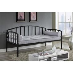 Ava Metal Daybed and Trundle, White - Walmart.com