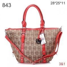 Michael Kors Classic Tote Removable Strap Light Brown Red...