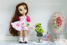 """Pink travel. Doll clothes for Disney animator dolls 16""""."""