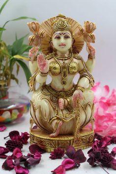 Lakshmi statue,8inches, Marble Laxmi Murti, Goddess Lakshmi Sculpture, Lakshmi figure, Laxmi Idol, Goddess of Wealth &Prosperity, Success by Shivajiarts on Etsy Lakshmi Statue, Kali Statue, Ganesh Statue, Shiva Photos, Great Graduation Gifts, Good Luck Gifts, Diwali Gifts, Shiva Shakti, Goddess Lakshmi