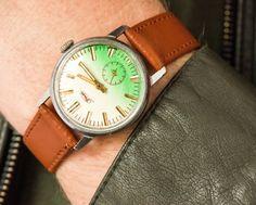 Vintage men's wristwatch ZIM watch silver bright by SovietEra, $64.00