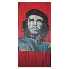 Che Guevara is a 125 strand 90 x beaded door curtain featuring a depiction of the iconic revolutionary Che Guevara.