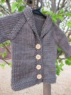 baby sweater patterns knit from the neck down   The design is a top down cardigan, with a picked up all-in-one button ...