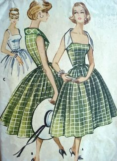 1958 - I remember my mother having patterns like this.  Wow..the memories...