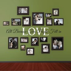 All because two people fell in LOVE - vinyl wall decal by wildgreenrose on Etsy